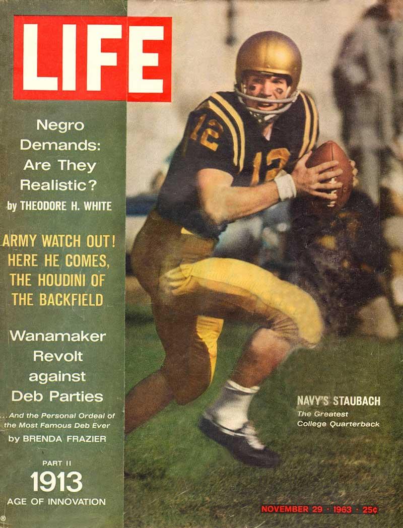 Roger Staubach Life Magazine 1963 worth up to $1,800