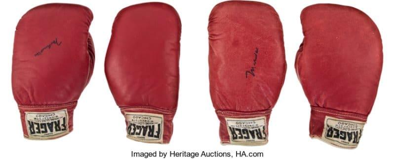 signed Ali gloves